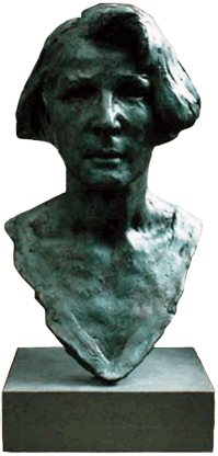 Maureen Bentley Bronze Portrait - Front