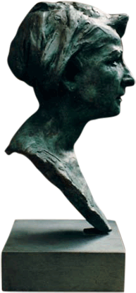 Maureen Bentley Bronze Portrait - Side