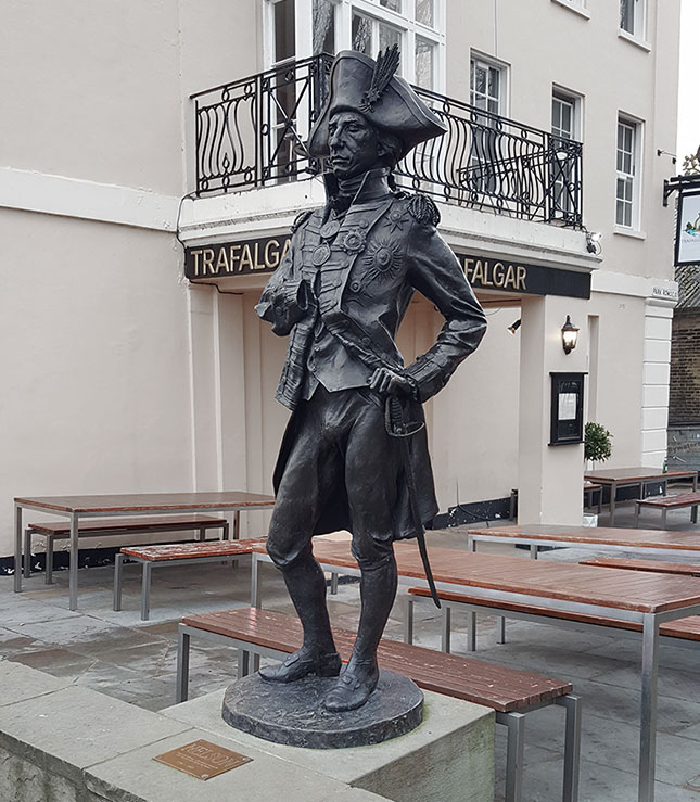 Large bronze sculpture of Admiral Nelson