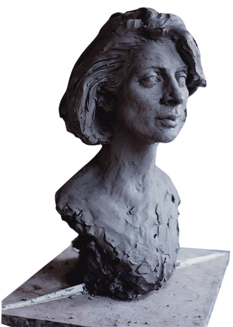 Portrait 3 in clay