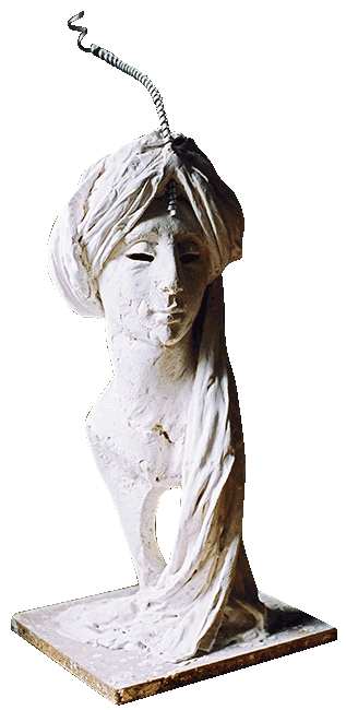 Arab Head in plaster and vermiculite