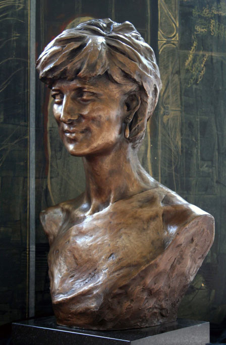 A Memorial Bronze Portrait of Diana