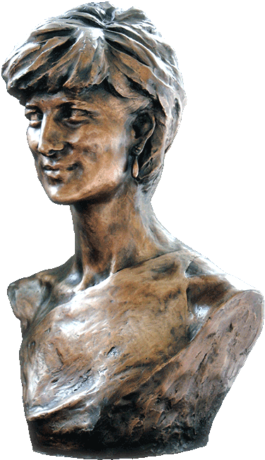 Princess Diana in Bronze